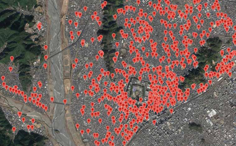 静岡県内のあらゆる地質データを一元管理